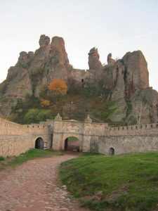 The unique Belogradchik rocks seem built into the fortress.