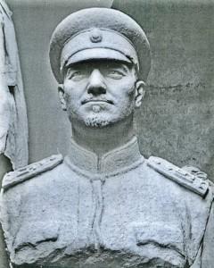 A bust of lieutenant-colonel Stefan Iliev