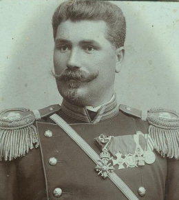 General Hristo Popov (1859)- 1941), the commander of 6th division